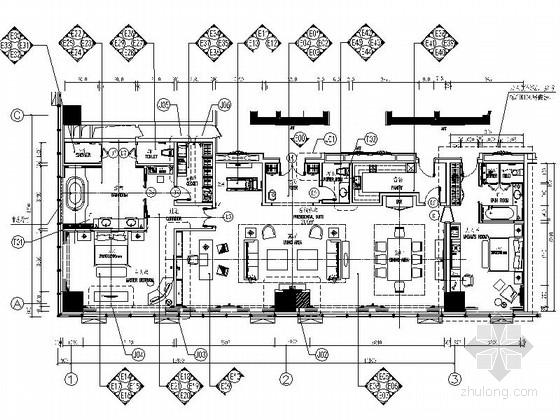 [河北]某五星级豪华酒店总统套房室内装修图(含效果)