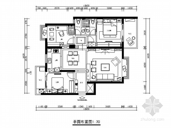 [南昌]田园风格三室两厅装修图