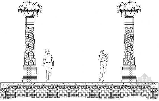 景观柱详图