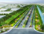 [江苏]快速游览型滨水城市道路绿化带四季景观设计方案(两大标段设计)