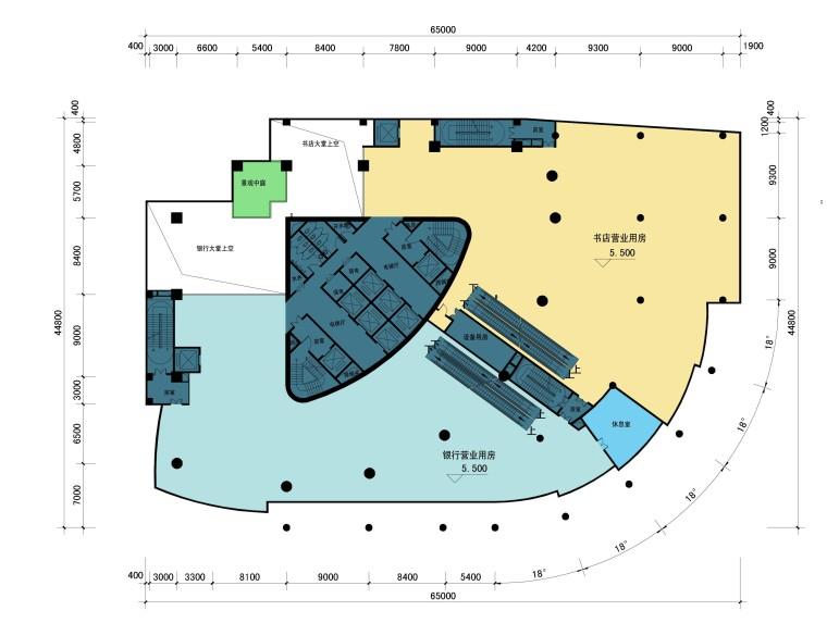 [安徽]合肥四牌楼商业综合体设计方案文本(JPG)-二层平面图