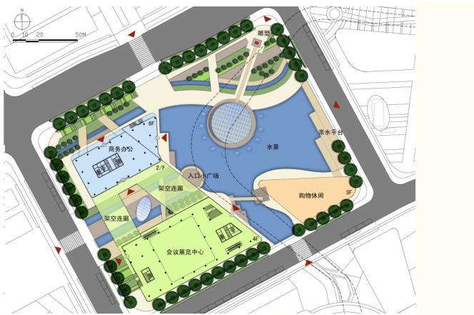 [上海]现代风格低碳城市综合体建筑设计方案文本_9