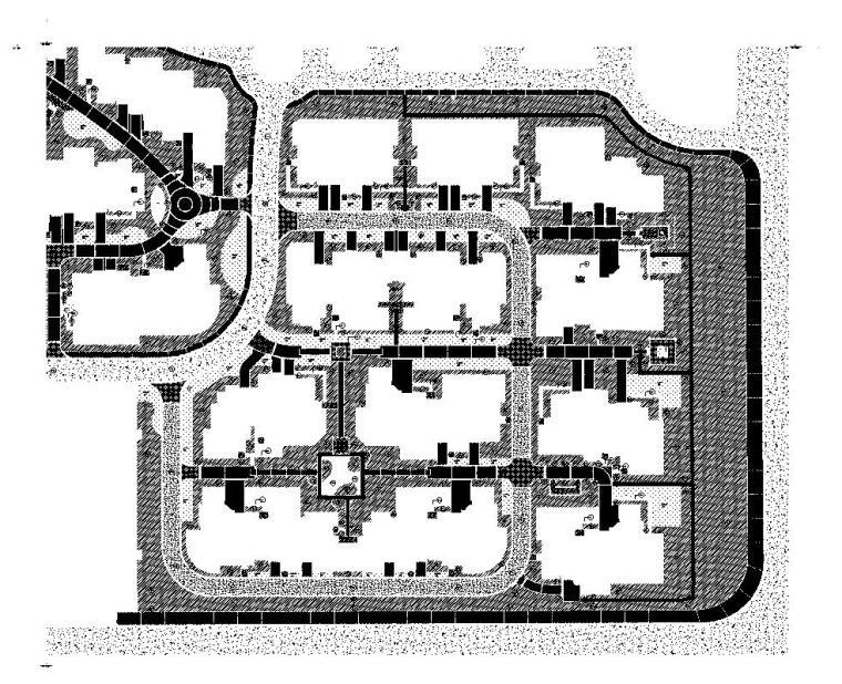 [江苏]南京山水华门景观施工图设计(CAD)