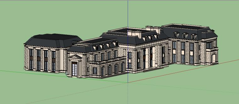 新古典会所建筑模型设计-场景五