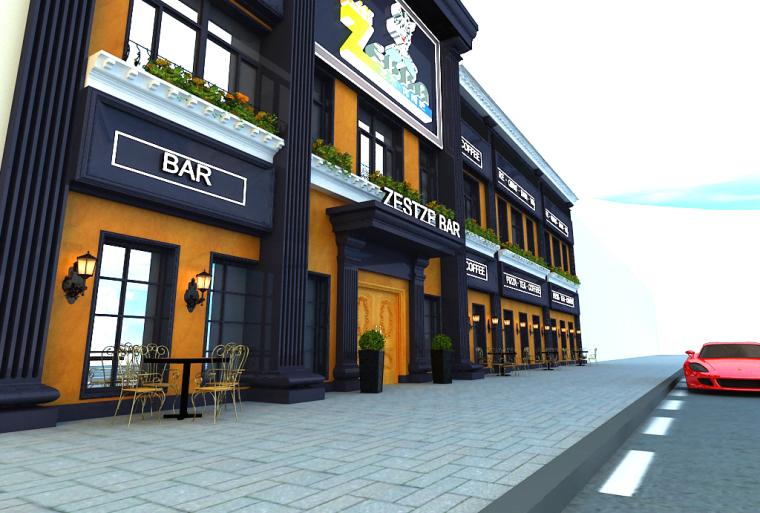 [休闲吧设计]沈阳市中山路热情的斑马艺术休闲吧项目设计-c2.jpg