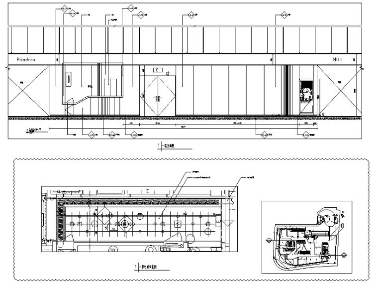荷兰UNStudio商场中心设计施工图丨附效果图+机电设计+标识设计-立面图