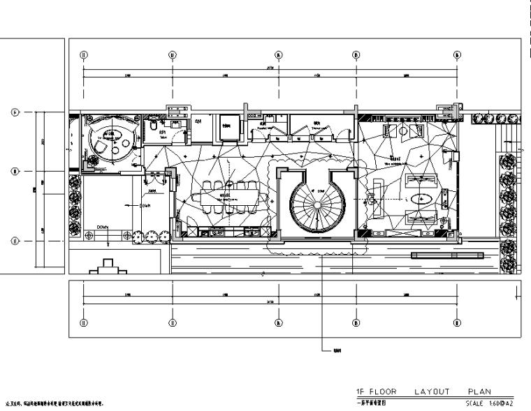 [广东]南沙金茂湾商墅D12户型住宅设计施工图(附效果图)