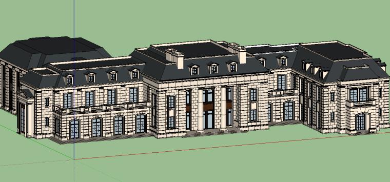 新古典会所建筑模型设计-场景二