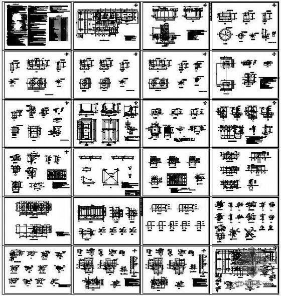 某冰机房、钢平台及室内外设备基础结构设计图