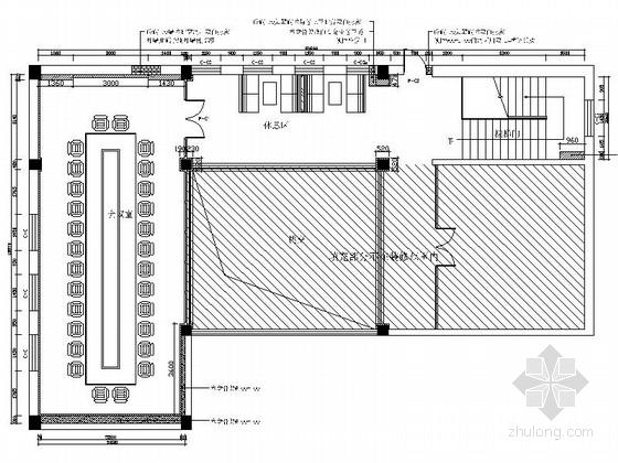 [河南]现代简约会议室室内设计CAD施工图