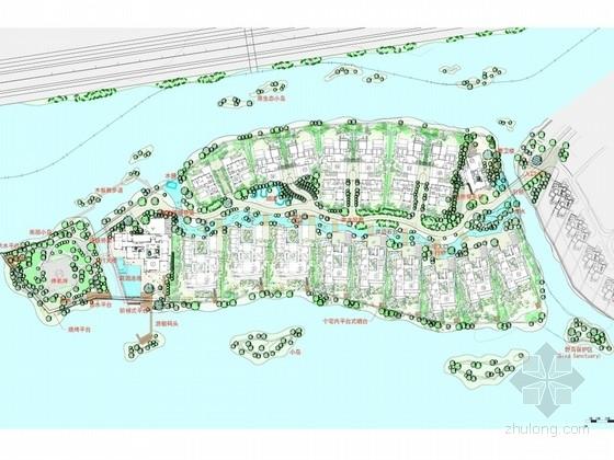 [苏州]四面环水中心岛型居住区规划设计方案
