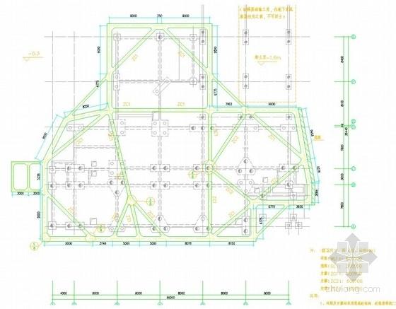 [浙江]排桩加混凝土内支撑深基坑支护施工图(含计算书)