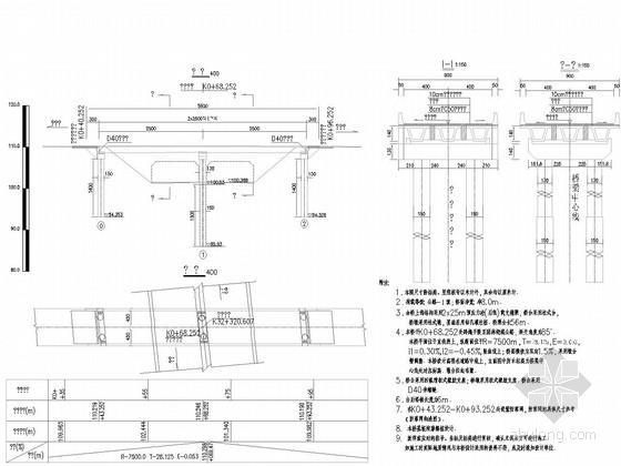 [湖北]2x25m后张预应力混凝土简支箱梁桥施工图48张(桥面净宽8m)
