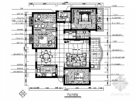 新中式家居设计施工图(含效果图)