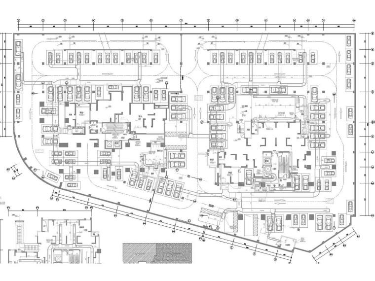 [四川]回迁住宅地下室通风及防排烟系统设计施工图(西南设计院)