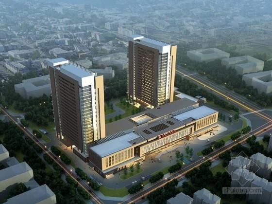 [四川]现代风格高层医院设计方案文本(含4种方案 CAD)