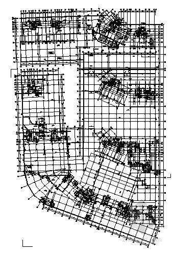 附建式框架人防结构施工图(防护密闭门 电缆井)