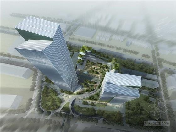 """[深圳]现代风格""""垂直城市""""办公建筑群规划设计方案文本"""