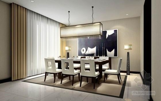 [浙江]某独栋东南亚风格别墅样板间室内设计方案图