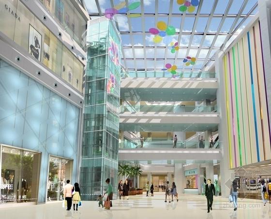 [昆山]繁华商业区现代百货商场室内CAD装修图(含效果)大堂效果图