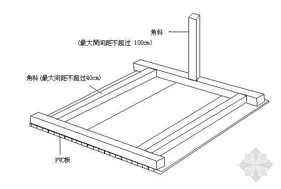 暗架PVC天花详图