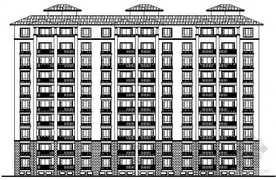 某现代欧式十层层住宅方案设计(带地下车库)
