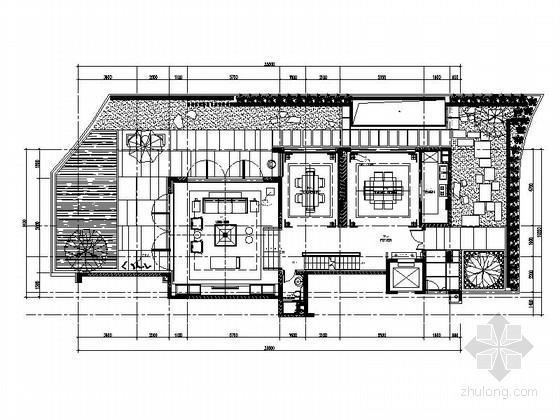 [深圳]现代新中式双层别墅室内装修图(含效果)