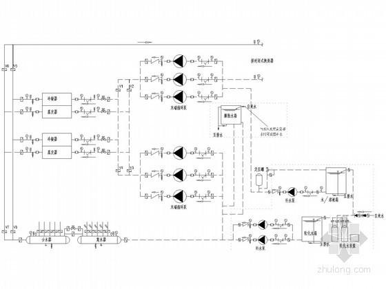 地源热泵系统原理图(闭式、热回收式)