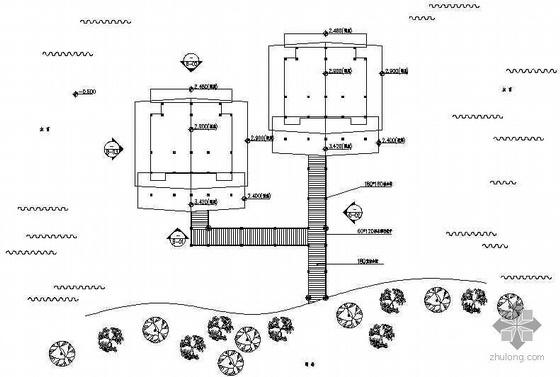 [深圳]海上旅游区水上木屋别墅园林建筑施工图