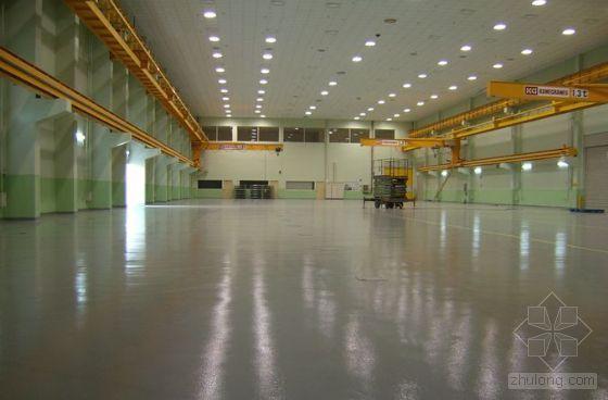 大面积钢筋混凝土地面一次浇筑成型施工工法