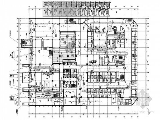 [江苏]超高层商业办公楼空调通风及防排烟系统设计施工图(大院作品 人防设计)