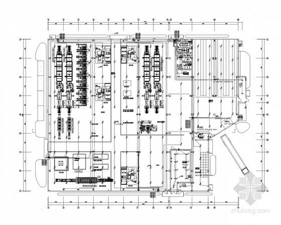 [上海]多层厂房全套电气施工图纸(含10KV变电所设计)