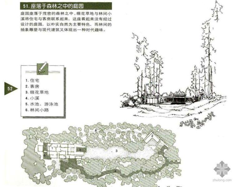 坐落于森林之中的庭院设计图