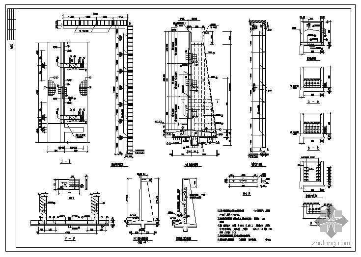 路基防护重力式挡土墙设计图