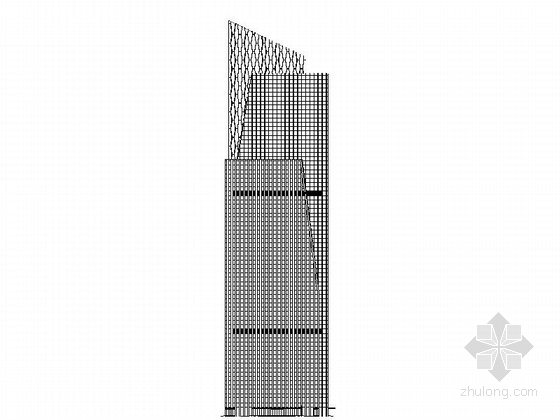 [山东]某45层五星级酒店建筑设计方案图(含效果图)