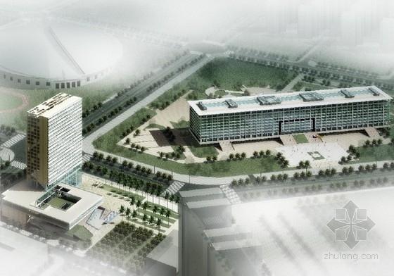 [广东]23层高层玻璃幕墙行政办公楼建筑设计方案文本