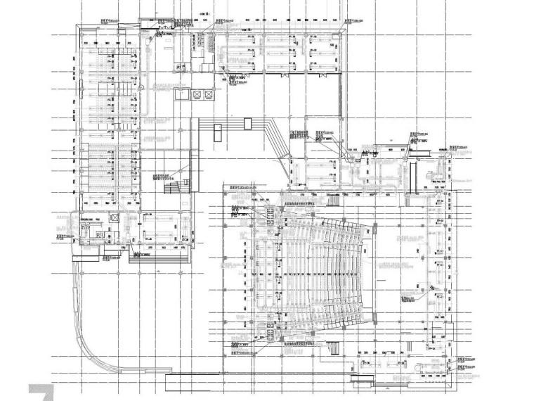 [江苏]高级中学教育建筑空调通风防排烟系统设计施工图(机房设计)