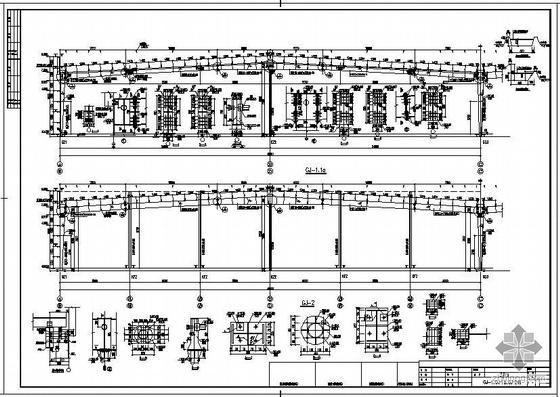 某单层排架全钢结构车间设计图