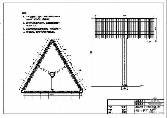 某三角广告牌结构设计图
