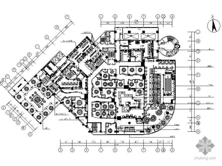传统高档中餐厅施工图