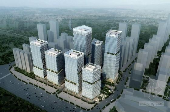 [深圳]超高层模块化围合型商务综合楼建筑设计方案文本