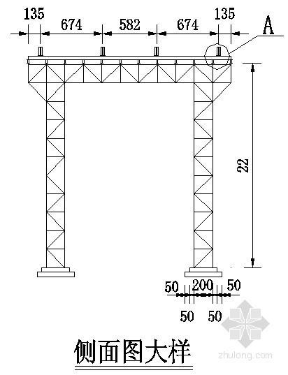 桥梁缆索吊装布置示意图