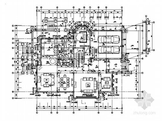 [上海]豪华气质欧式别墅装修设计CAD施工图