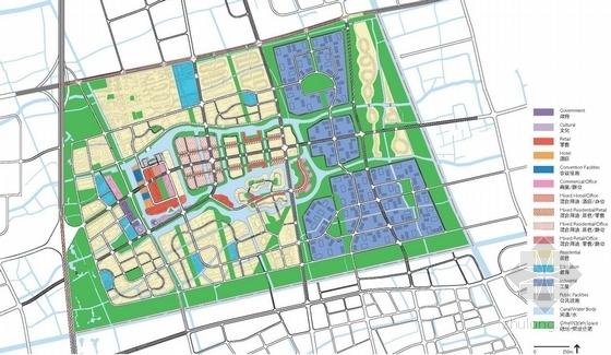 [上海]国际都市活动新城区景观规划设计方案-景观分析图