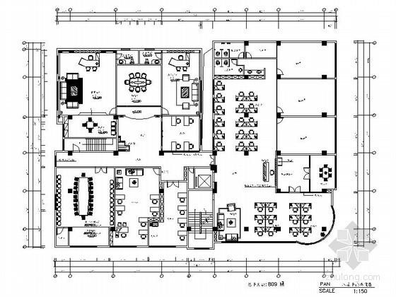 [泉州]某集团第八层办公楼内装修图