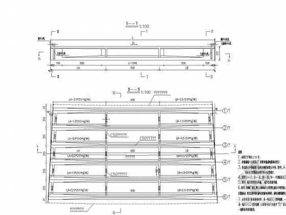 20米跨径预制T梁一孔桥施工图21张CAD(12m宽)