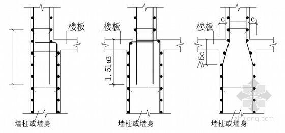 [北京]框剪结构办公楼钢筋工程施工方案(节点详图)
