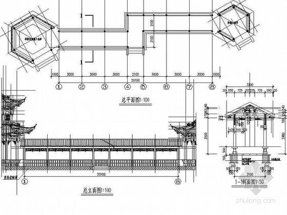 景观廊亭古建施工图