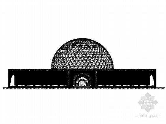[河北]半圆形市级民族宫建筑设计施工图(图纸精细推荐下载)