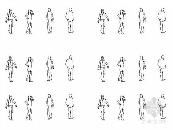 人物立面CAD图块下载